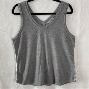 Inspired Hearts Pinstripe Tank Top soft stretch